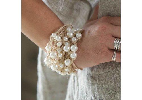 Multi Strand Pearl Strand Bracelet