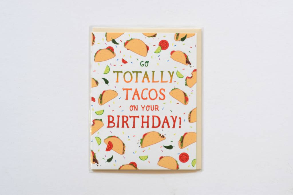 Totally Tacos Birthday Card