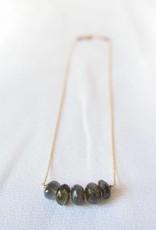 Labradorite Necklace w/ Rhodolite Garnet, Laura J.