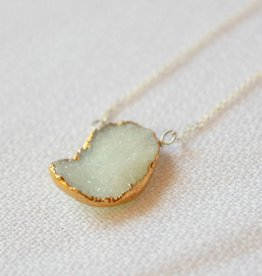Sea Green Druzy Necklace
