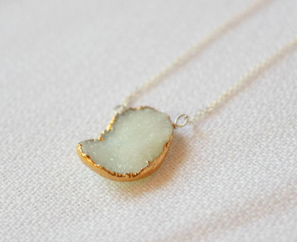 Sea Green Druzy Necklace, Laura J.