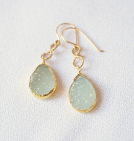 Sea Green Druzy Earrings