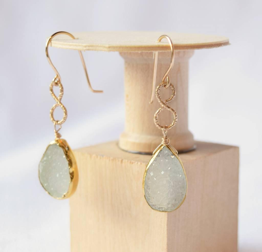 Sea Green Druzy Earrings, Laura J.