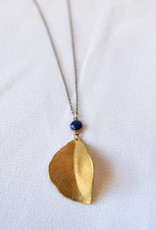Leaf & Cobalt Grove Necklace, Crafts & Love