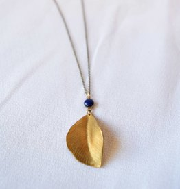Leaf & Cobalt Grove Necklace