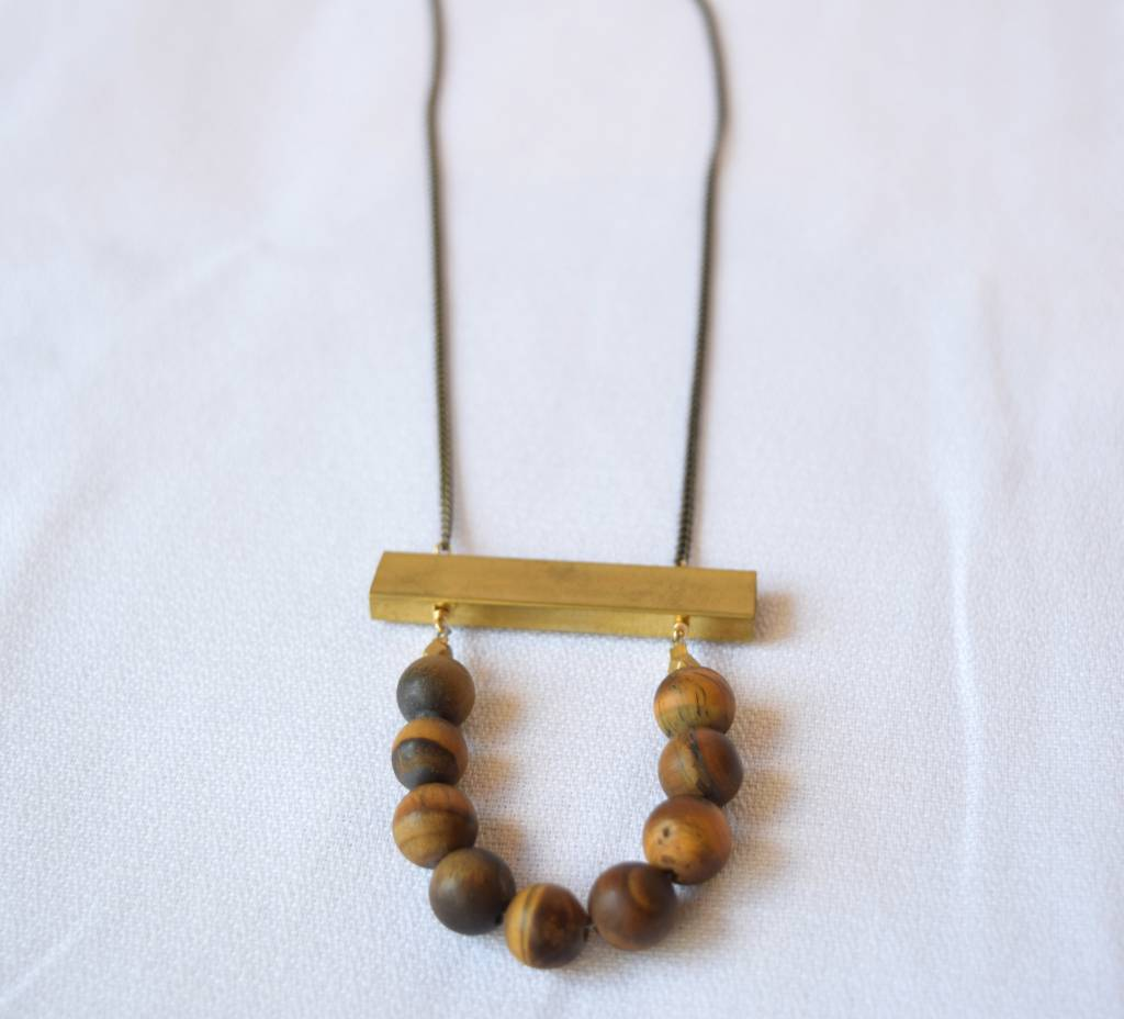 Au Courant Tiger Eye Necklace, Larissa Loden
