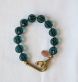 Green Agate Bracelet with Horse Clasp, We Dream in Colour