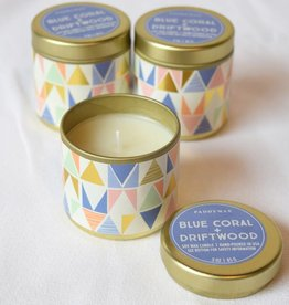 Blue Coral & Driftwood Candle, 3 oz.