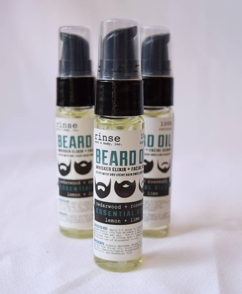 Beard Oil, Rinse