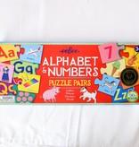 Alphabet & Numbers Puzzle Pairs, eeBoo