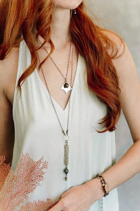 Avalon Necklace, Moonstone, Simon & Ruby