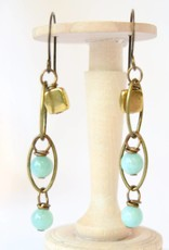 Monterey Brass Earrings, Simon & Ruby