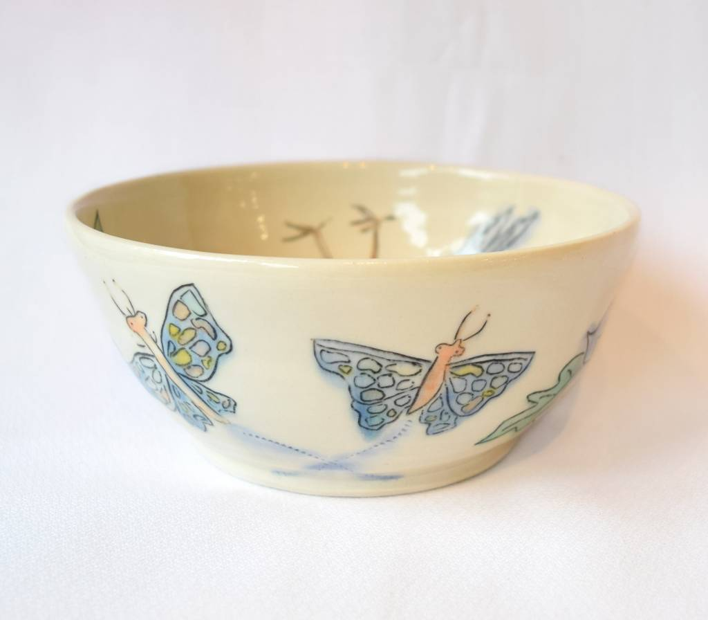 Allie Walter Butterflies & Flowers Bowl