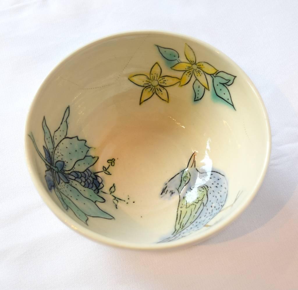 Allie Walter Butterflies & Flowers Bowl