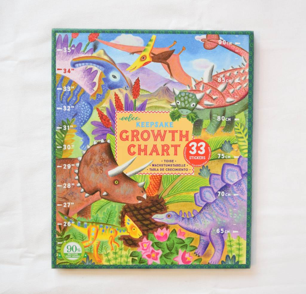 Grow Like a Dinosaur Growth Chart