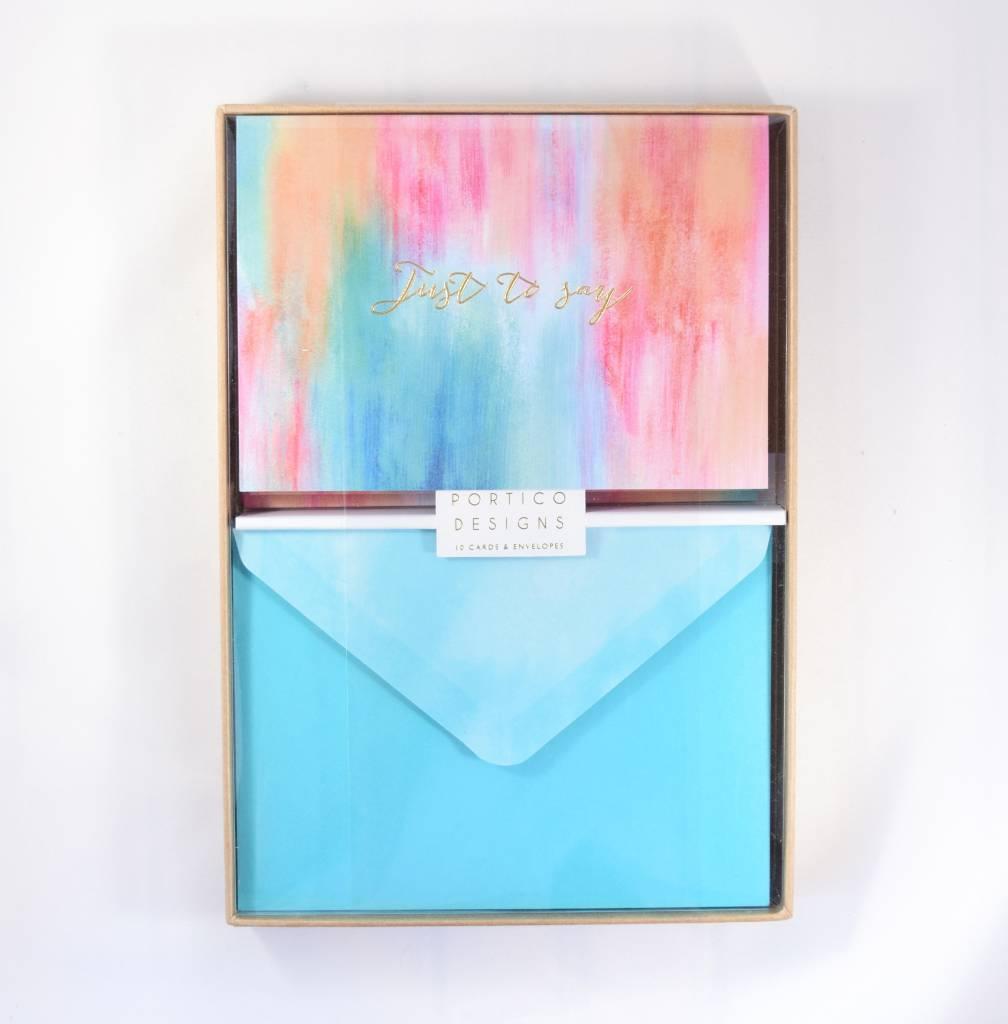 Abstract Summer Notecard Set