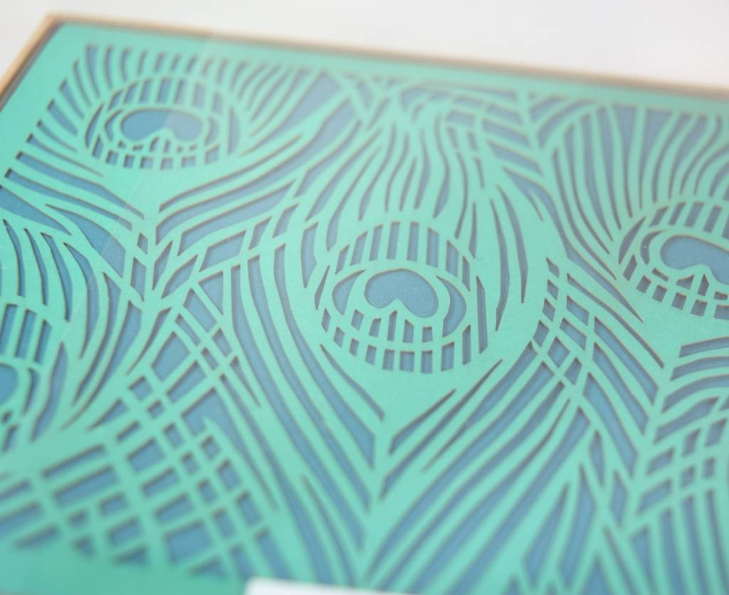Peacock Notecard Set