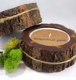 Grapefruit Pine Candle | Tree Bark