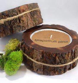 Grapefruit Pine Candle | Tree Bark