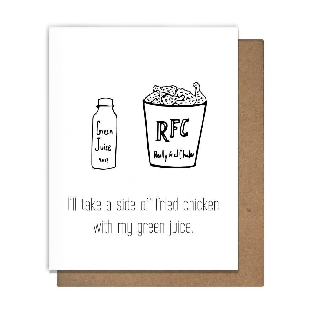 Letterpress Just 'Cuz cards by Matt Butler