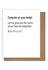 Letterpress Baby Cards by Matt Butler