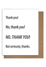 Letterpress Thank You cards by Matt Butler