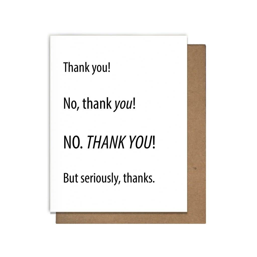 Letterpress Thank You cards by Matt Butler