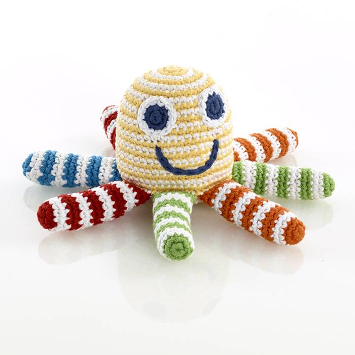 Pebble Knit Ocotpus Rattle
