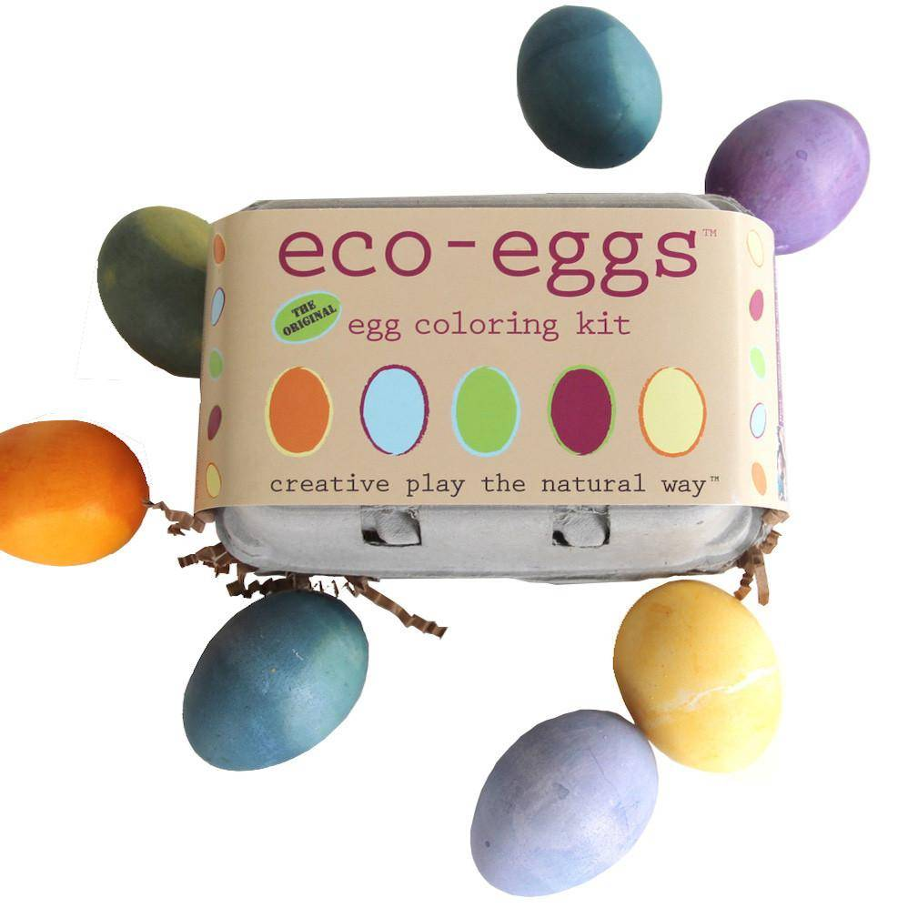 Eco-Eggs. Egg Coloring Kit & Grass Growing