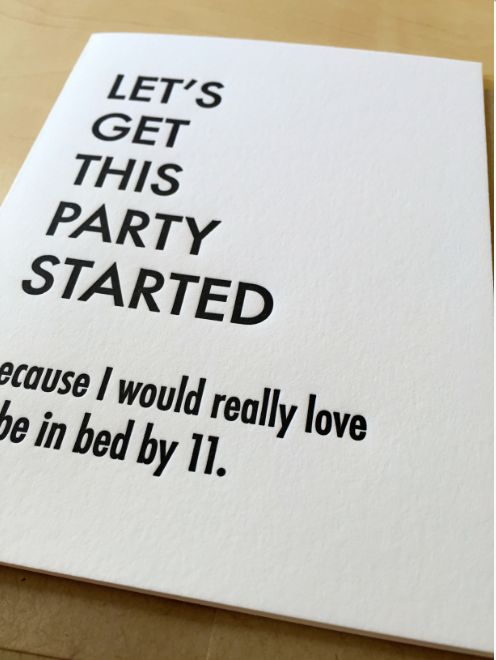 Letterpress Birthday Cards by  Matt Butler