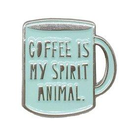 Coffee Is My Spirit Animal Enamel Pin