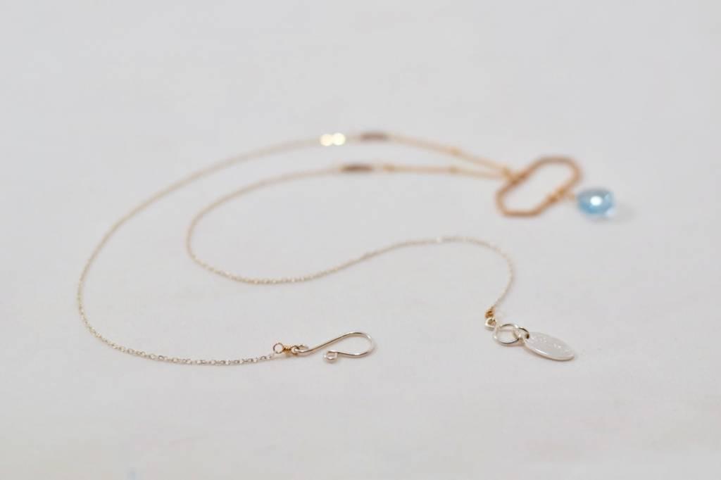 Laura J Blue Topaz Necklace | Laura J Designs