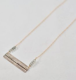Laura J Mixed Metals & Green Quartz Necklace