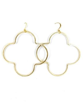 BETSY PITTARD DESIGNS BETSY PITTARD QUATREFOIL HOOP EARRINGS