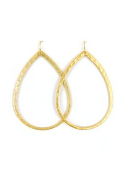 BETSY PITTARD DESIGNS BETSY PITTARD HAMMERED TEARDROP EARRINGS