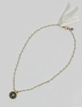 BITTERSWEET DESIGNS LIGHT ROSARY CROSS NECKLACE