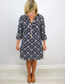 JUDE CONNALLY JUDE CONNALLY MEGAN 3/4 SLEEVE TUNIC DRESS