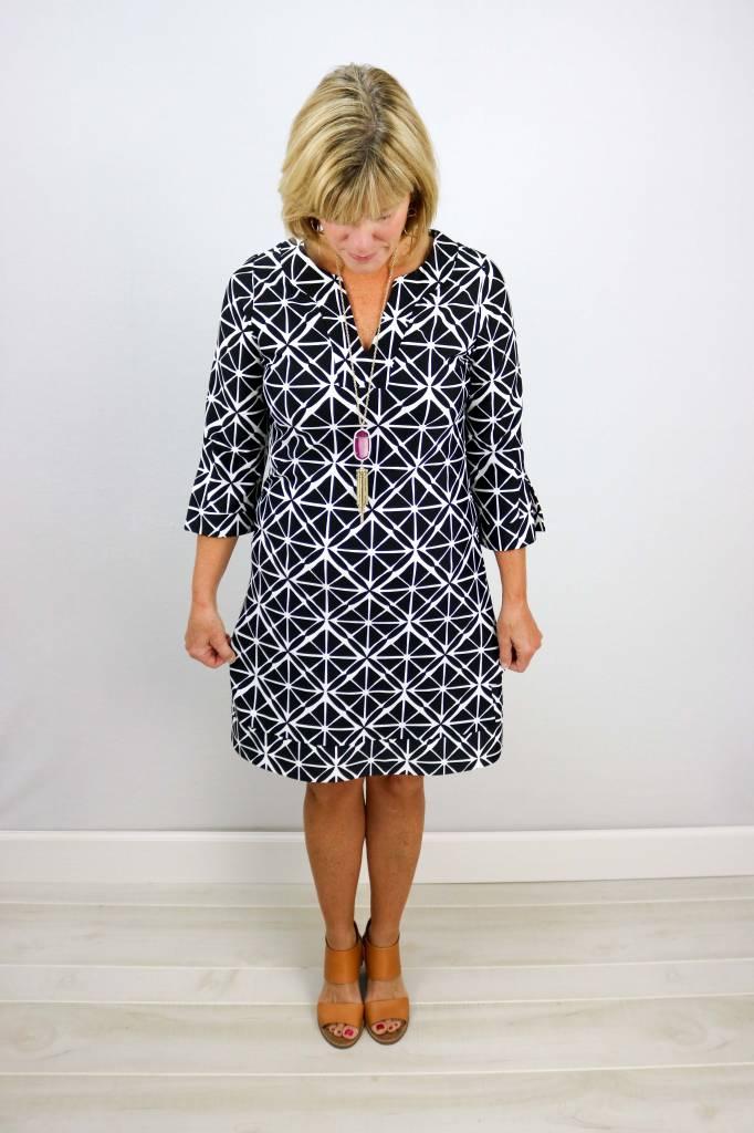 JUDE CONNALLY MEGAN 3/4 SLEEVE TUNIC DRESS