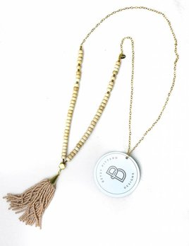 BETSY PITTARD DESIGNS BETSY PITTARD BEADED NECKLACE W/BEADED TASSEL