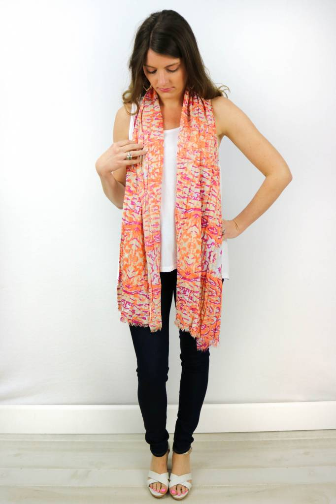 COLORFUL ANIMAL PRINT SCARF