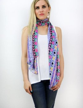 MULTI PATTERNED SCARF(2 COLOR CHOICES)