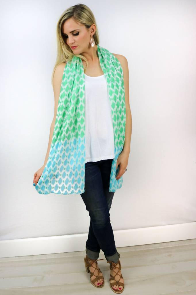 COTTON IKAT SCARF