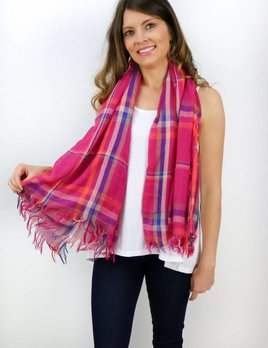 PLAID FRINGE SCARF(3 COLOR CHOICES)