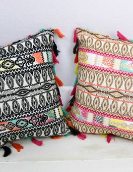JUDITH MARCH JUDITH MARCH EMBROIDERED PILLOW(2 COLOR CHOICES)