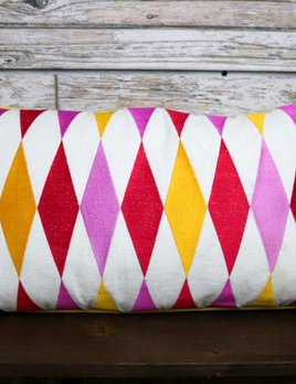 TRINA TURK FRANCA EMBROIDERED PILLOW