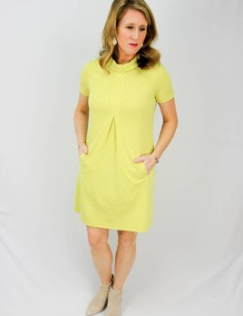TYLER BOE TYLER BOE SHORT SLEEVE DRESS W COLLAR