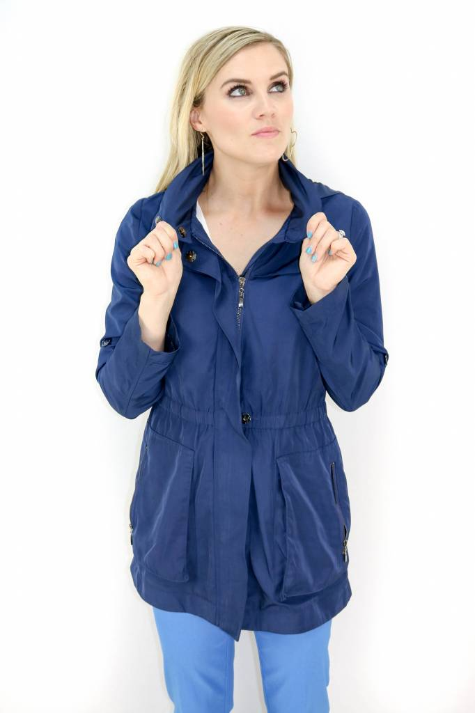 JOY JOY HOODED ANORAK RAIN JACKET