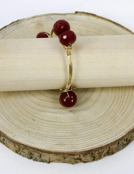 BOURBON & BOWETIES BOURBON & BOWETIES DBL BEAD BANGLE