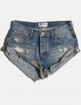 ONE TEASPOON BLUE BUOY BANDIT DENIM SHORTS