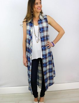 BISHOP + YOUNG SLEEVELESS BUTTON DOWN TUNIC